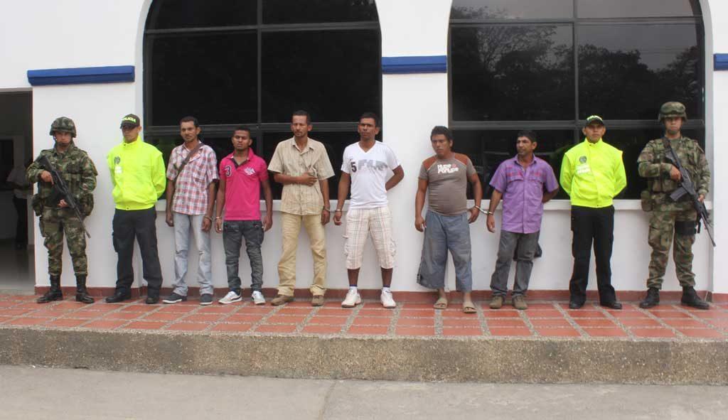 Capturadas siete personas en desarrollo de la 'Operación Ciénaga V', por la Policía y Ejército.