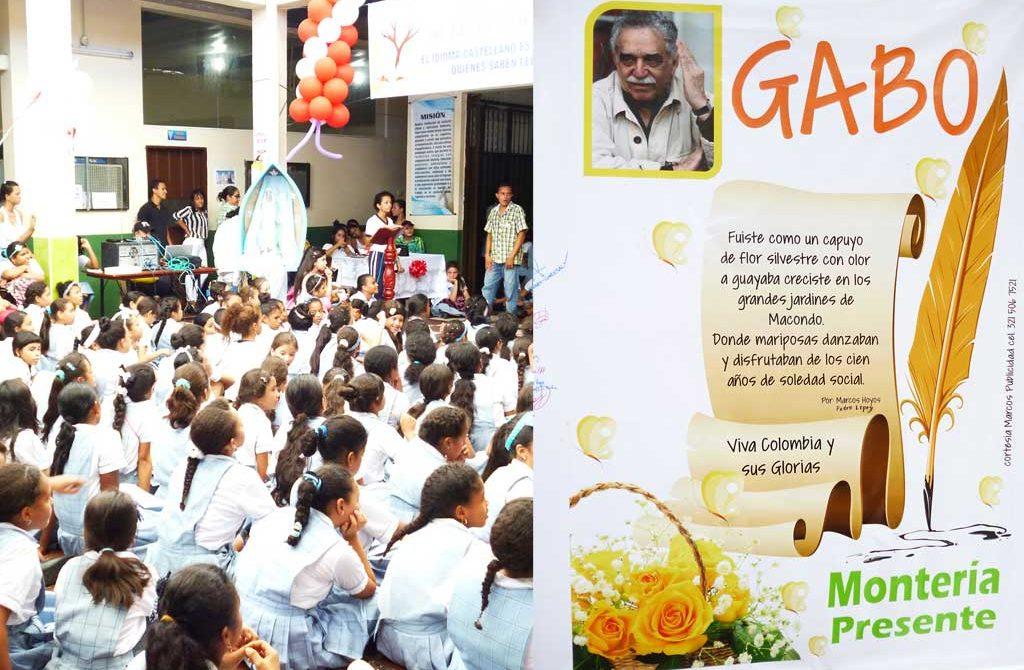Estudiantes y Ciudadanos conmemoraron el Día del Idioma y al Nobel García Márquez.