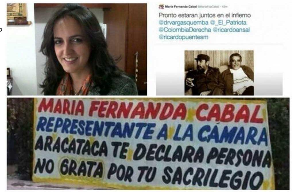 Rechazo total en contra de la electa representante a la cámara Cabal, por los trinos que dio en contra de Gabriel García Márquez.