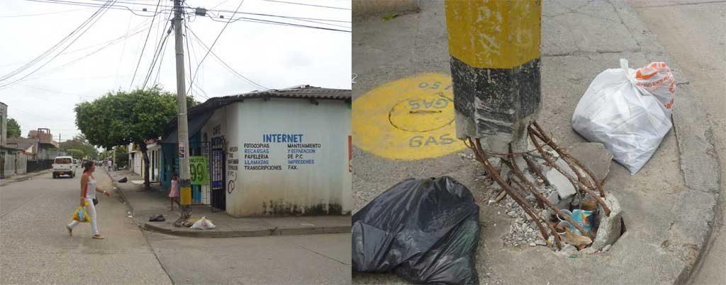 Habitantes del Barrio Nariño, exigen a ELEC, su negligencia en el cambio de este poste que necesita ser removido, debido al peligro que representa.