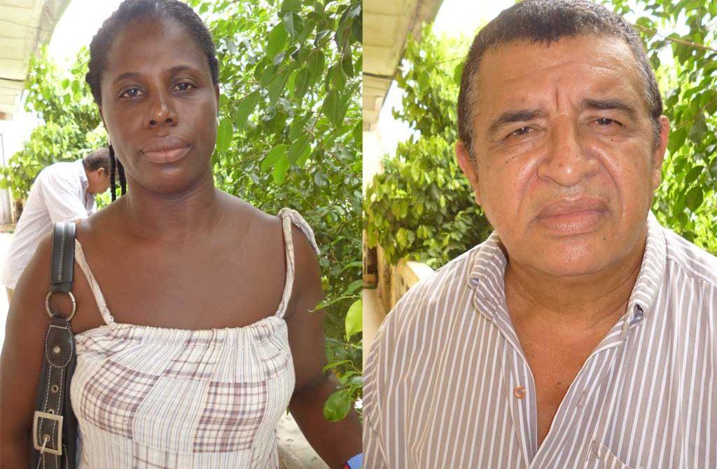 Madis Sarmiento y María Clotilde Sánchez, lideres de la mesa de familias victimas en Sahagún.