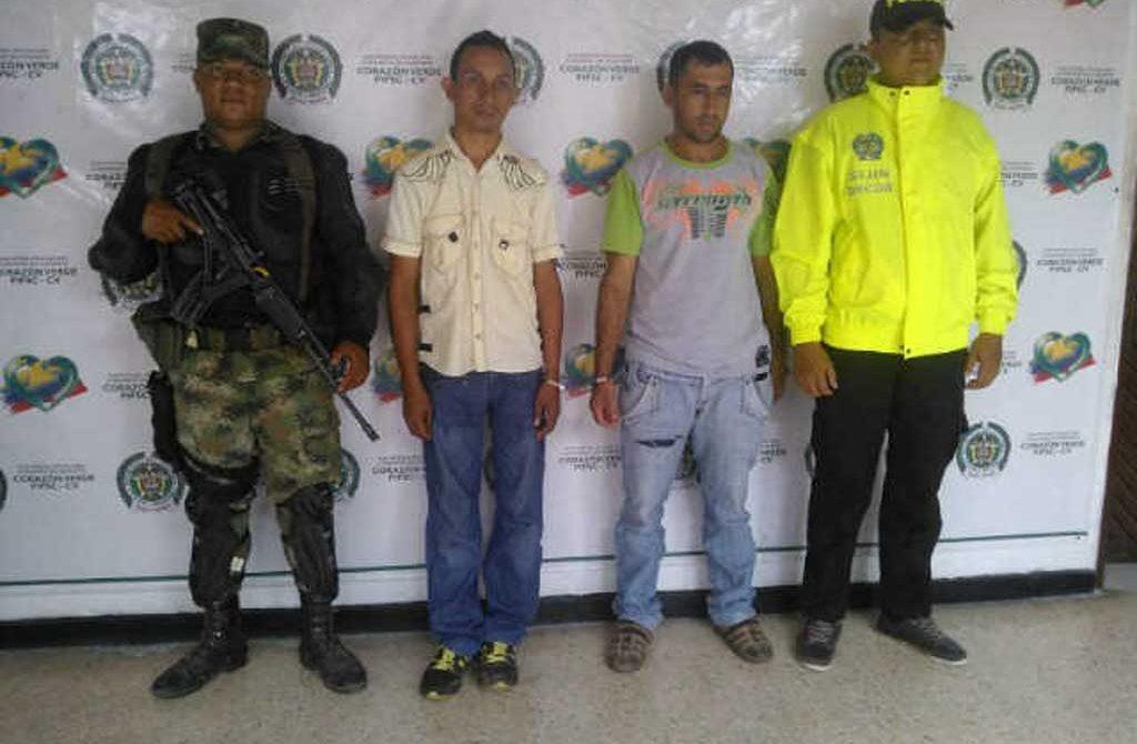 """Luis Alberto Villalba Sotelo y Luis Miguel Barreto Piedrahita, aparentemente son integrantes de la banda criminal """"Urabeños, que venían atemorizando la población."""