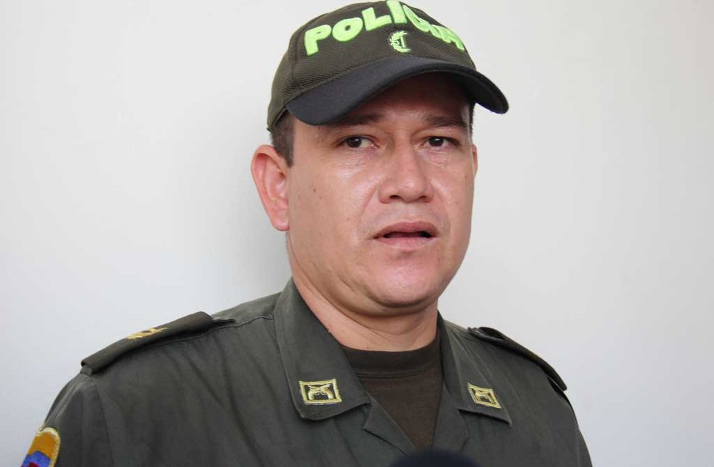 Comandante de Polícia de tránsito y transporte del departamento de Córdoba, Mayor Edwin Pérez Aponte, se reunió con los lideres del gremio transportador.