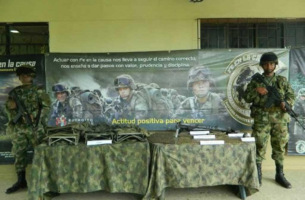 Incauta material de guerra perteneciente a la compañía del frente 36 de las FARC, en Antioquia.