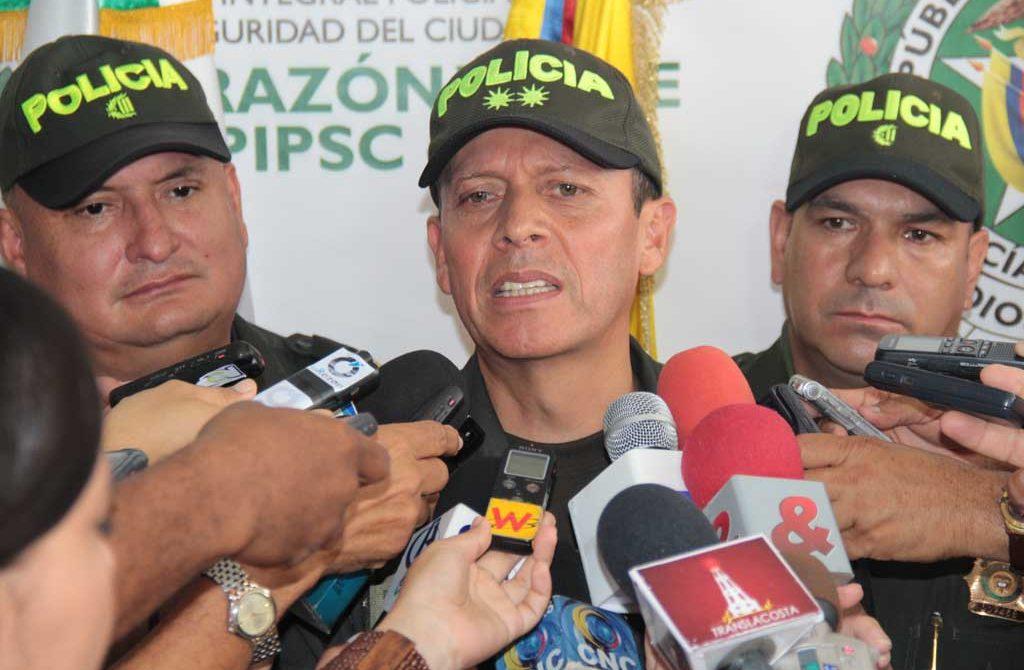 El general Nicolás Rances Muñoz, comandante de Policía Región 6, (Córdoba, Antioquia, Choco).