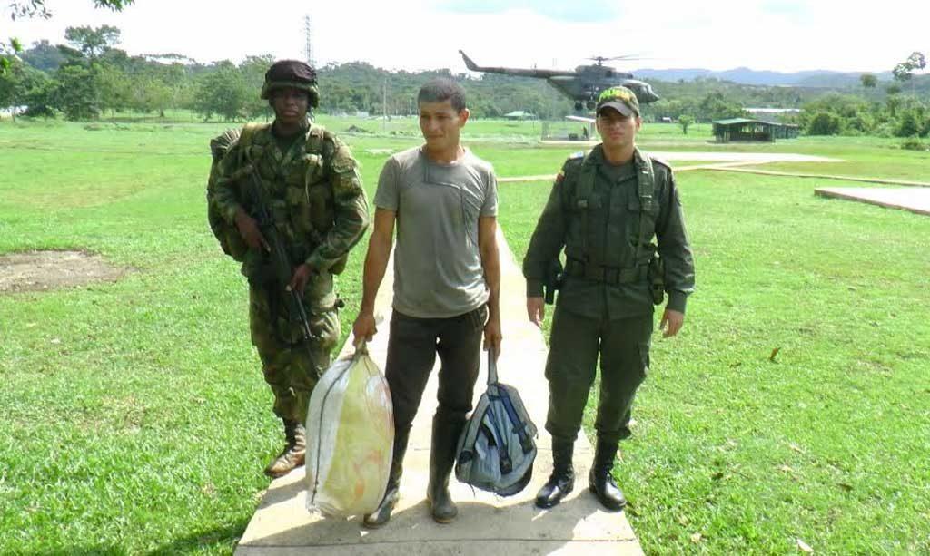 Albeiro Antonio Martínez Vargas, presunto guerrillero de las FARC.