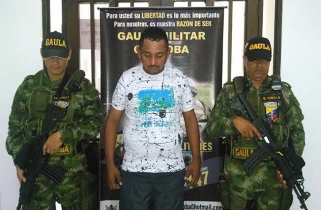 Capturado, Jadid Antonio Garay Severiche, alias 'Ciego'