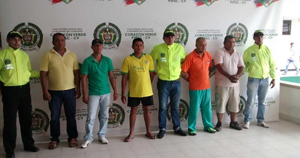 Los capturados están sindicados por el delito de Concierto para Delinquir Agravado con fines de homicidio.