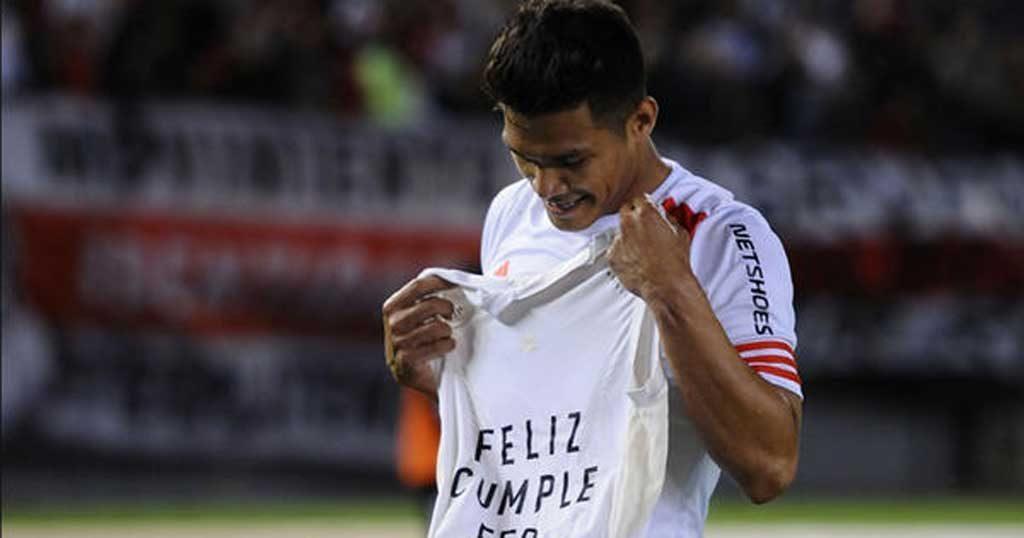 El delantero colombiano de River Plate volvió a anotar este fin de semana y es el máximo goleador del Torneo de Transición.