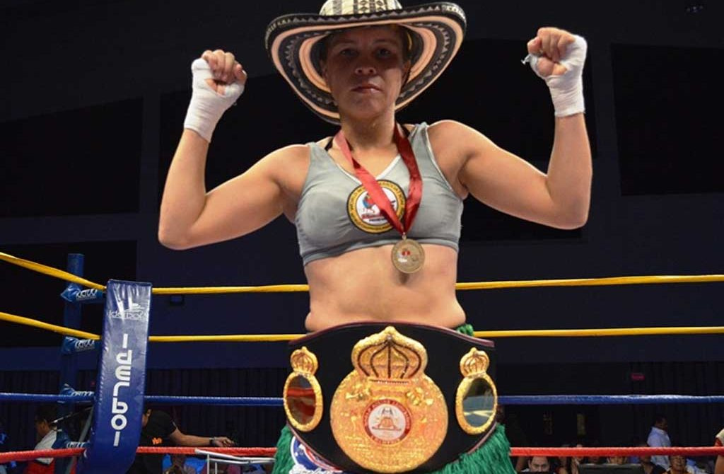 Liliana Palmera, campeona mundial de Boxeo.