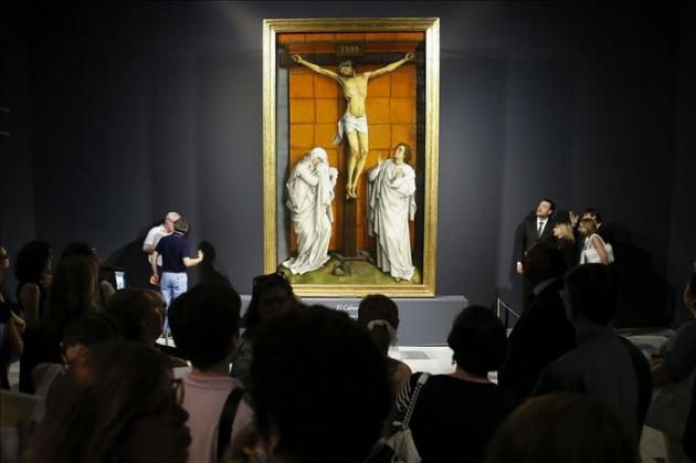 """""""El Calvario"""", de Rogier van der Weyden, ha regresado después de más de tres años al Monasterio de San Lorenzo de El Escorial."""