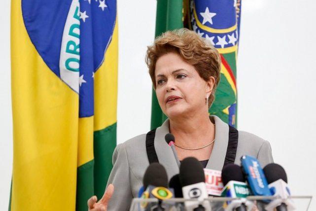 En medio de ataques de la oposición, Dilma Rousseff , respondió que no se dejara caer, y que dichas expresiones no le atemorizan,.