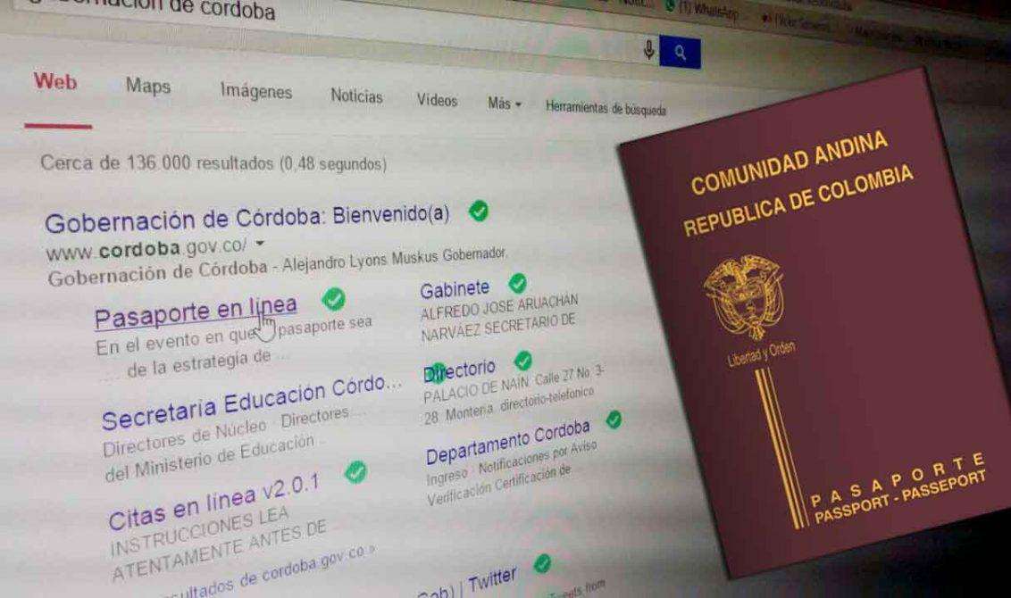 pasaporte en linea