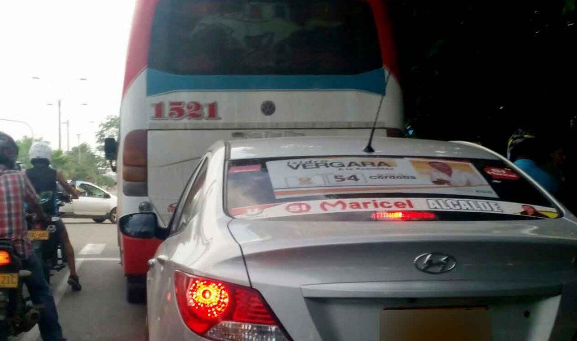 Retirarán publicidad política de vehículos en Montería