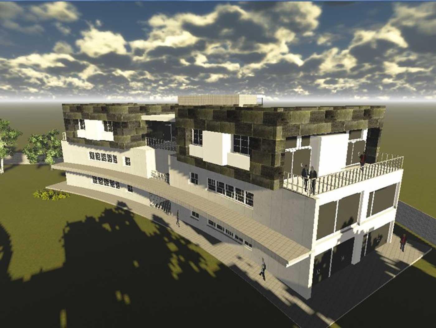 Bloque de Aulas de la nueva sede en Sahagún