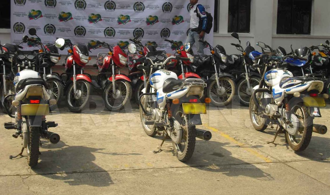 Policía recupera cuatro motocicletas hurtadas