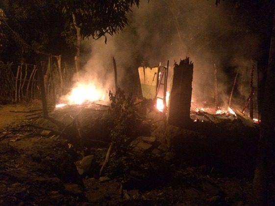 Capturan a hombre que quemó la casa de su propia madre