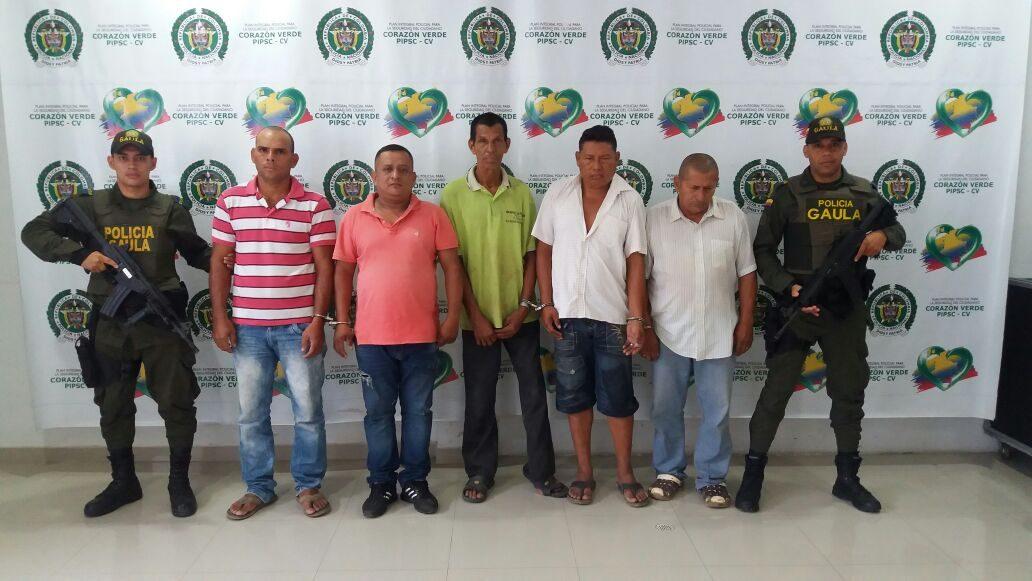 Capturan a cinco presuntos extorsionistas del Clan del Golfo