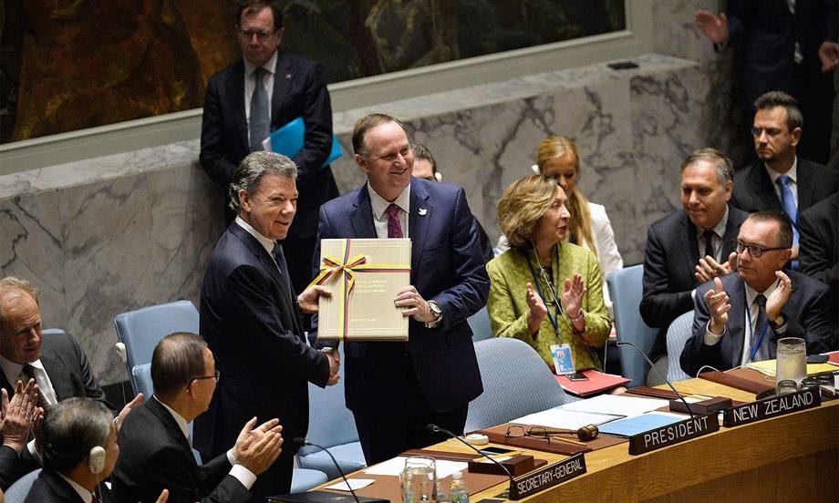 Presidente Santos entregó Acuerdo Final de Paz al Consejo de Seguridad de la ONU