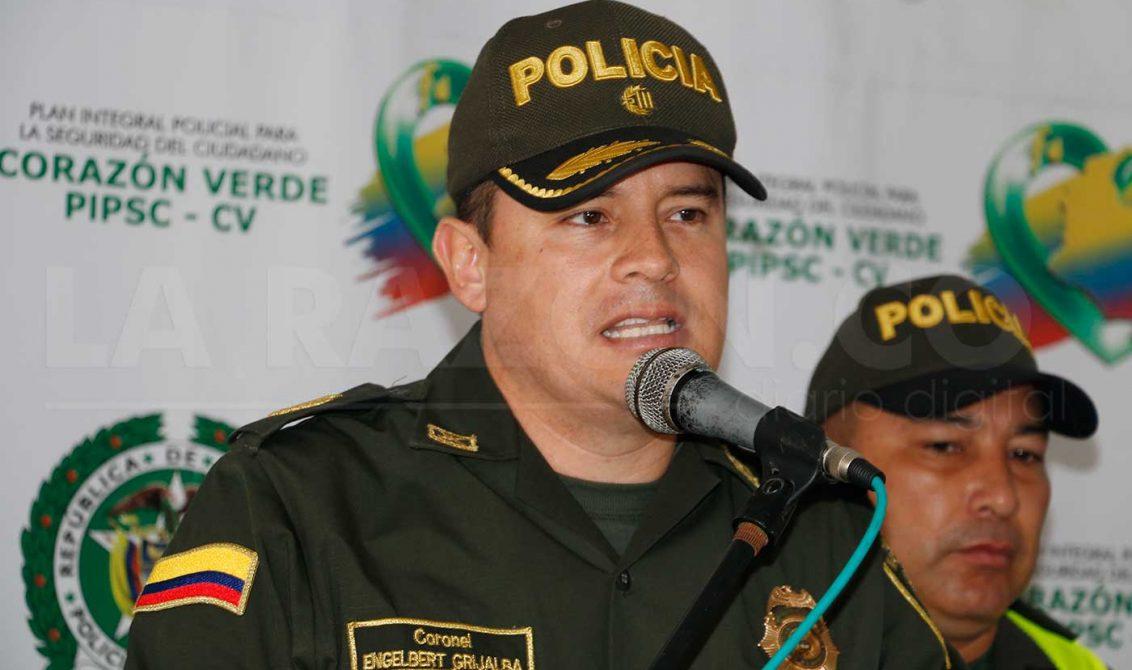 Coronel Engelber Grijalba Suárez, comandante de la Policía en Córdoba.