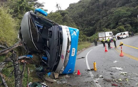 Accidente en Santa Fe de Antioquia deja cuatro muertos