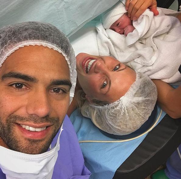 Falcao anunció el nacimiento de su tercera hija Annette