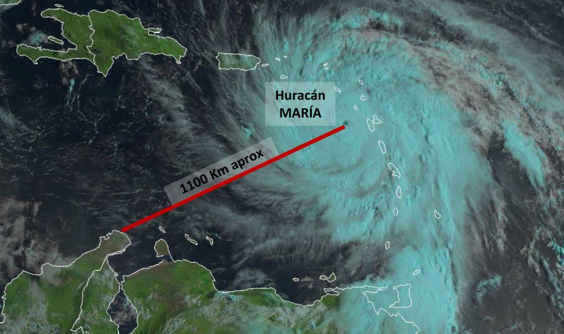 Paso de huracán María se sentirá en gran parte del territorio colombiano