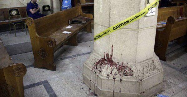 Mueren 10 personas en un ataque a una iglesia en Egipto