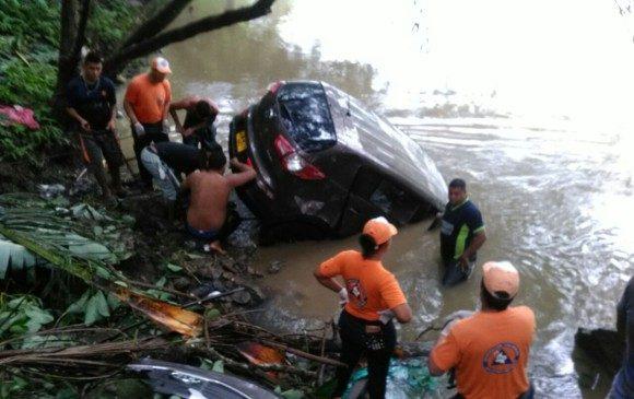 Accidente en Tarazá deja 4 personas desaparecidas en el río Cauca