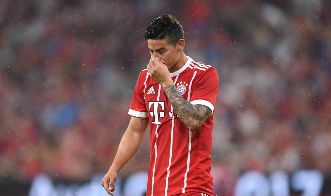 James sería baja del Bayern ante el Hertha