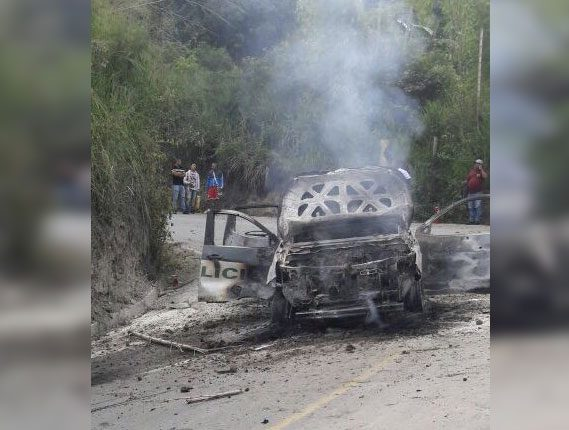 Dos policías muertos en emboscada a patrulla en Caldono, Cauca