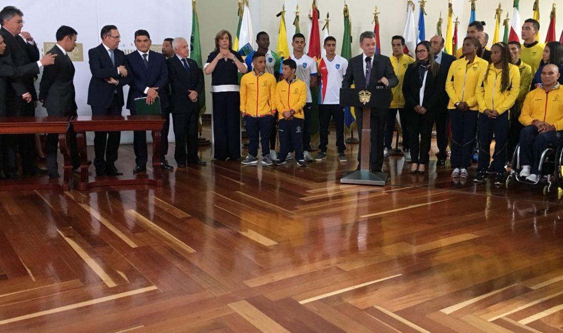 Presidente Santos radicó proyecto para transformar Coldeportes en Ministerio