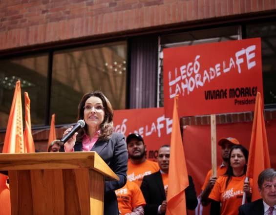 Viviane Morales adhiere a campaña de Iván Duque