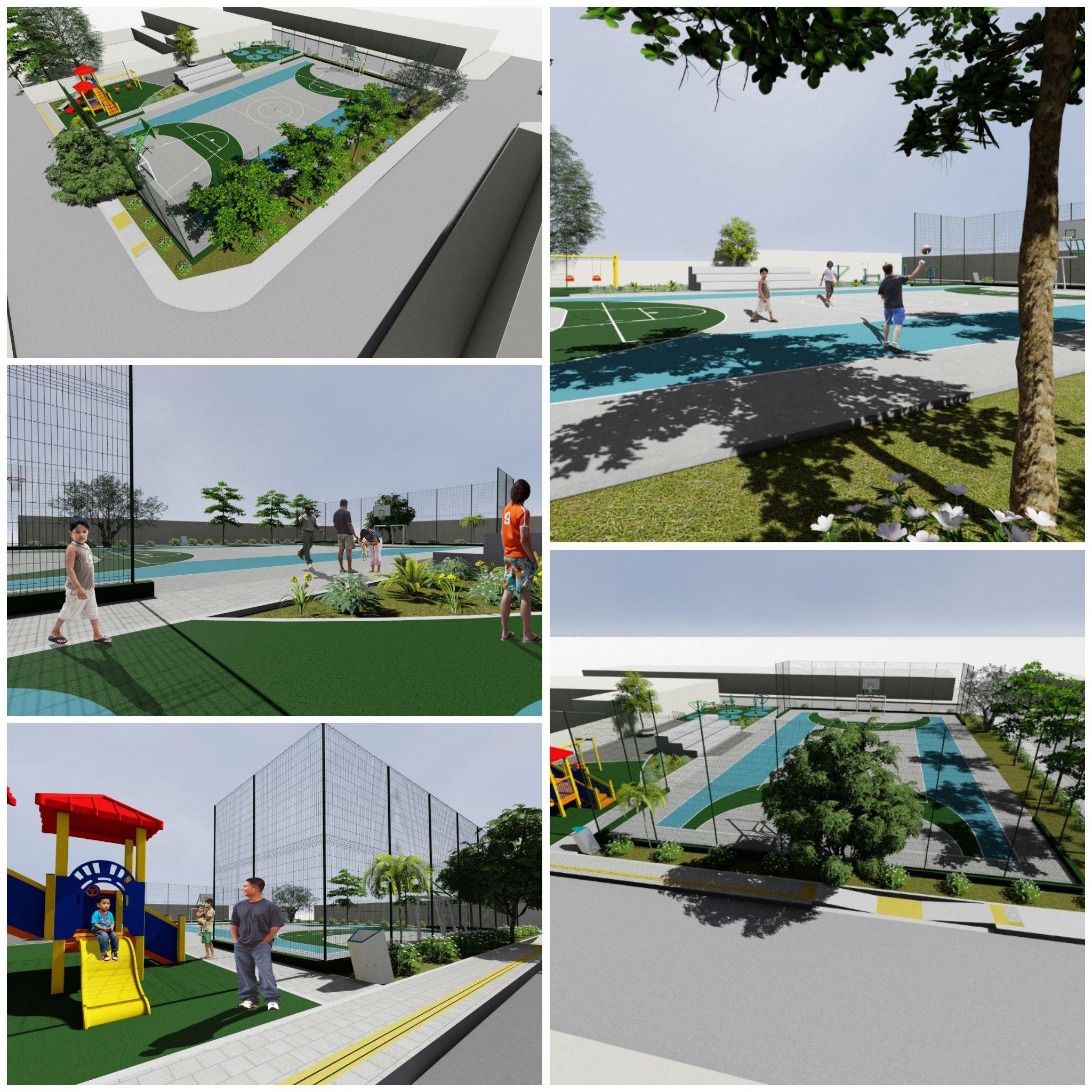 Inician construcción de parque en barrio Puente N°1