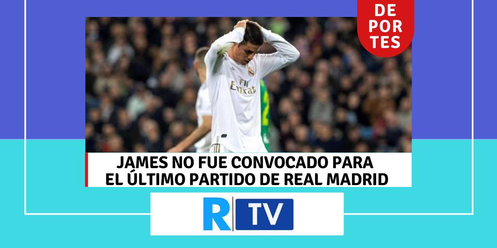 James no fue convocado para el último partido del Real Madrid