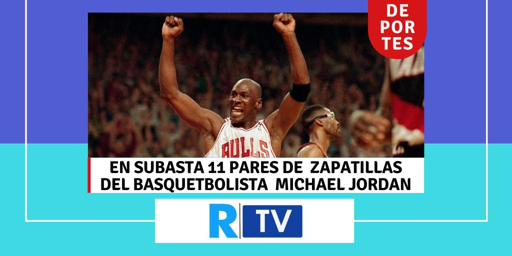 EN SUBASTA 11 PARES DE ZAPATILLAS DEL BASQUETBOLISTA MICHAEL JORDAN