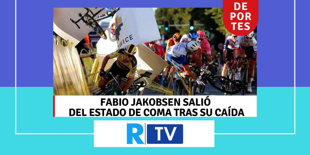 FABIO JAKOBSEN SALIÓ DEL ESTADO DE COMA TRAS SU CAÍDA